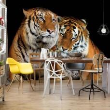 "Photo wallpaper ""Loving Tigers"""
