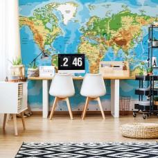 "Photo wallpaper ""World Map Atlas"""