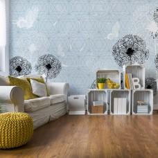 "Photo wallpaper ""Photo wallpaper ""Dandelions and butterflies"""""