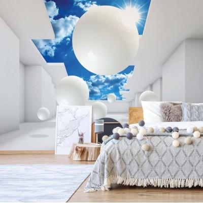 "Photo wallpaper ""3D Modern Architecture Sky White"""