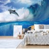 "Photo wallpaper ""Dolphins Sea Wave Nature"""