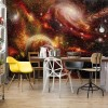 "Photo wallpaper ""Planets Galaxy Outer Space"""