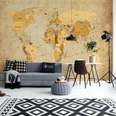 "Photo wallpaper ""Vintage World Map Sepia"""