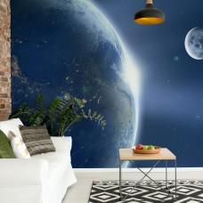 "Photo wallpaper ""Earthh and Moon"""