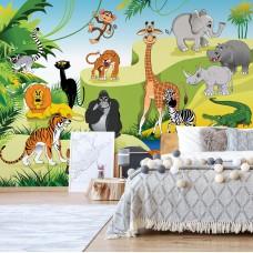 "Photo wallpaper ""Cartoon Animals"""