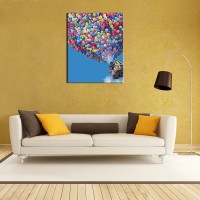 """Pain by number set """"Flighting balloons"""" 40x50"""