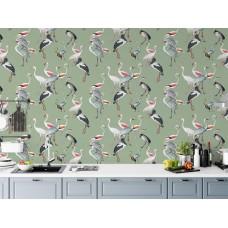 """Wallpaper """"Ornithology"""" - 8 colors"""