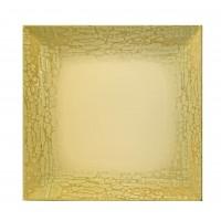 """Lėkštė """"LA MEDITERRANEA"""" keturkampė, dekoruotas porcelianas, 24 cm"""