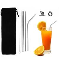Reusable straw set