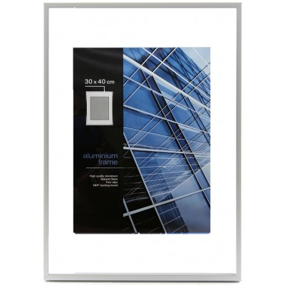 Aliuminis rėmelis (sidabro)  30x40