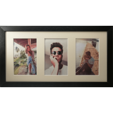 Collage photo frame -  black 3 10x15 photo
