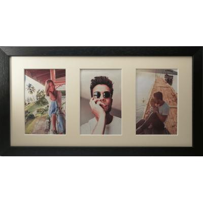 Collage photo frame -  black 3 10x15 photo