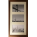 Collage photo frame  -  brown 3 10x15 photo