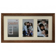 "Collage photo frame ""Amzona"" -  brown 3 10x15 photo"