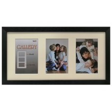 "Collage photo frame ""Amzona"" -  black 3 10x15 photo"