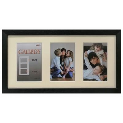 "Collage photo frame ""Amzona"" -  black 3 10x15 photo"