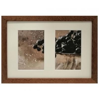 "Collage photo frame ""Amzona"" -  brown 2 10x15 photo"