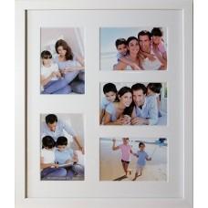 """Koliažas - foto rėmelis kelioms nuotraukoms """"Family"""" (baltas)"""