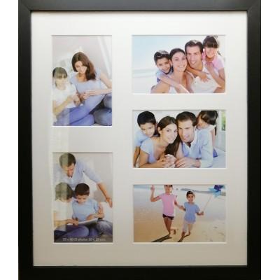 """Koliažas - foto rėmelis kelioms nuotraukoms """"Family"""" (juodas)"""