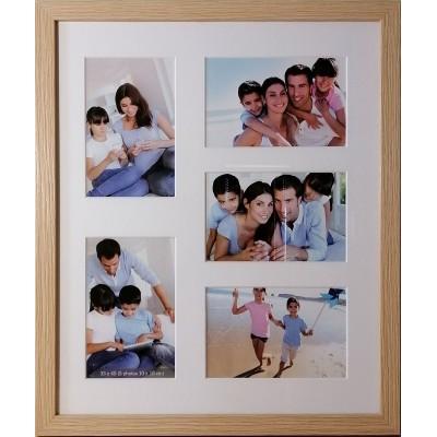 """Koliažas - foto rėmelis kelioms nuotraukoms """"Family"""" (smėlio)"""