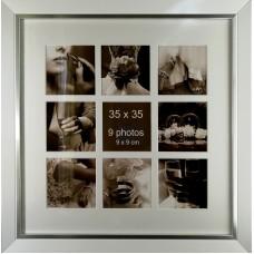 """Koliažas - foto rėmelis kelioms nuotraukoms """"Song"""" (sidabrinis)"""