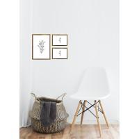 Photo frames (round, gold, silver) gallery - 3 pcs. (21x29 + 2 pcs. 13x18)