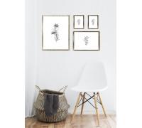 Photo frames (round, silveldr, gold) gallery - 4 pcs. (1 vnt 30x40, 1 vnt. 21x29, 2 vnt. 10x15)