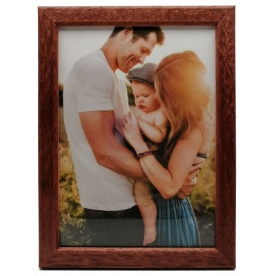 Wooden photo frame - brown