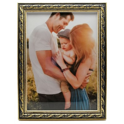 Plastic photo frame - vintage blue