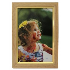 Plastic photo frame - with glossy stripe 10x15