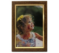 Plastic photo frame - with glossy stripe