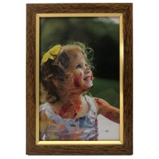 Plastic photo frame - with glossy stripe 13x18